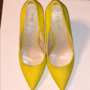 NineWest WNALIZA Pump Women's Shoes Yellow Sz 5.5W
